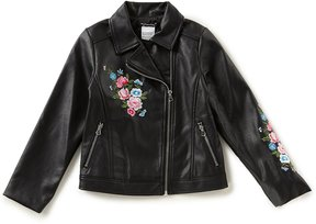 Xtraordinary Big Girls 7-16 Embroidered Faux-Leather Jacket