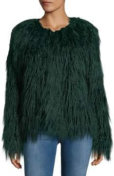 C&C California Women's Faux-Fur Shaggy Jacket