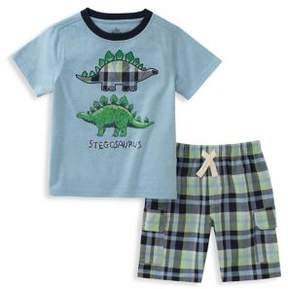 Kids Headquarters Baby Boy's Two-Piece Graphic Tee and Drawstring Shorts Set