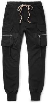 Rick Owens Slim-Fit Tapered Cotton-Jersey Cargo Trousers