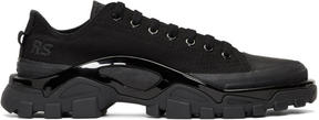 Raf Simons Black adidas Originals Edition New Runner Sneakers