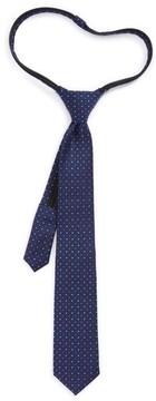 Nordstrom Boy's Dot Silk Zip Tie