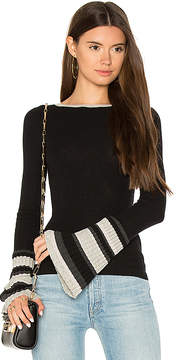 Autumn Cashmere Ribbed Pleat Cuff Sweater
