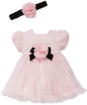 Little Me 2-Pc. Headband & Lace Dress Set, Baby Girls (0-24 months)