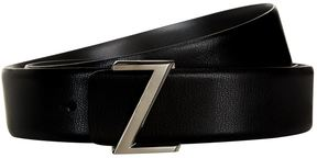 Z Zegna Z Logo Leather Belt