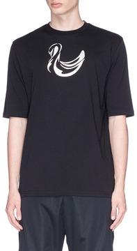 Cottweiler Holographic swan print T-shirt