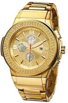 JBW Men's Saxon Diamond Stainless Steel Bracelet Watch - 0.16 ctw