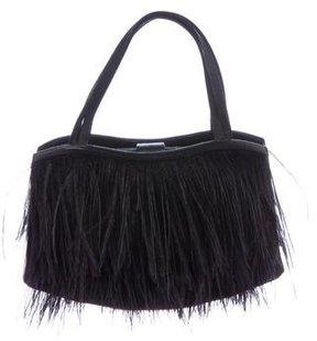 Manolo Blahnik Ostrich Feather Evening Bag