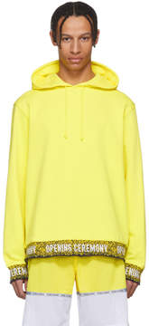 Opening Ceremony Yellow Limited Edition Elastic Logo Hoodie