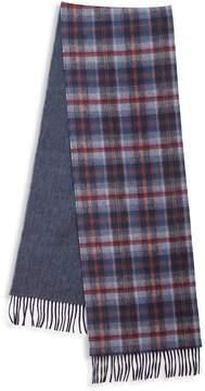 Saks Fifth Avenue Men's Plaid Merino Wool & Cashmere Scarf