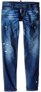 DSQUARED2 Distressed Skinny Jeans (Big Kids)