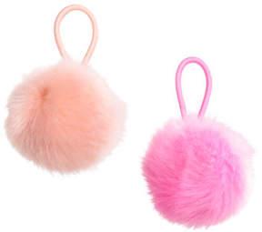 H&M 2-pack Pompom Hair Elastics - Pink