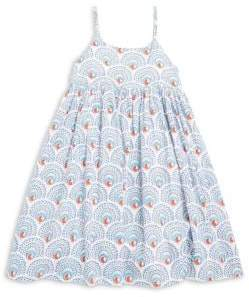 Roberta Roller Rabbit Toddler's, Little Girl's, and Girl's Sunny Peacock-Print Pleated Dress