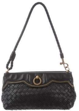 Bottega Veneta Intrecciato Chain-Link-Trimmed Bag