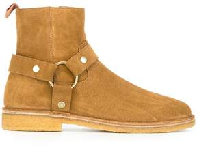 Saint Laurent Nevada 20 harness boots