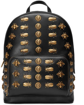 Gucci Animal studs leather backpack - BLACK - STYLE