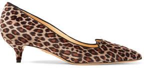 Charlotte Olympia Kitty Leopard-print Velvet Pumps - Leopard print