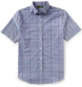 Murano Slim-Fit Plaid Performance Short-Sleeve Woven Shirt