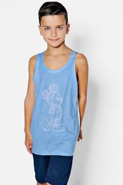 boohoo Boys Disney Drawn Mickey Print Vest
