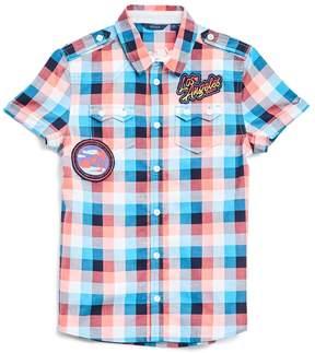 GUESS Short-Sleeve Gingham Shirt (8-18)