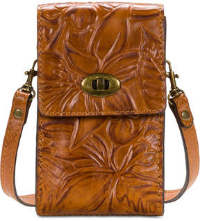 Patricia Nash Floral Tooled Phone Crossbody