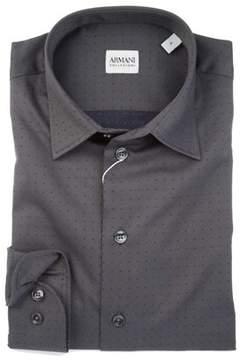 Armani Collezioni Men's Grey Cotton Shirt.