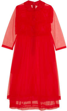 Comme des Garcons Cotton-trimmed Ruffled Organza Dress - Red