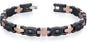 Ice Suave Tungsten Ceramic Copper Tone Eyeball Link Bracelet for Men