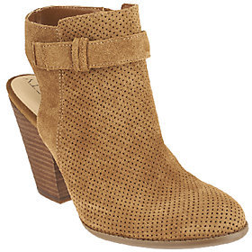 Sole Society Perforated Suede Booties - Perin