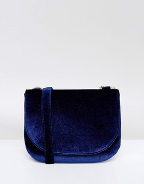 Monki Velvet Saddle Cross Body Bag