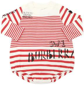 Burberry Striped Cotton Jersey Bodysuit