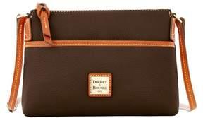 Dooney & Bourke Pebble Grain Ginger Pouchette Shoulder Bag - CHOCOLATE - STYLE