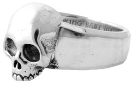 King Baby Studio Men's Hamlet Skull Ring