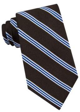Lord & Taylor The Mens Shop Racer Stripe Silk Tie