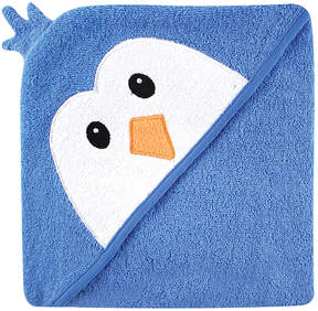 Luvable Friends Blue Penguin Terrycloth Hooded Towel