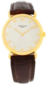 Patek Philippe Calatrava 3820 18K Yellow Gold Teardrop 32mm Mens Watch