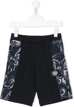 Versace printed panel shorts
