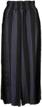 Forte Forte striped high waisted palazzo trousers