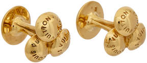 Louis Vuitton Gold-Tone Cufflinks