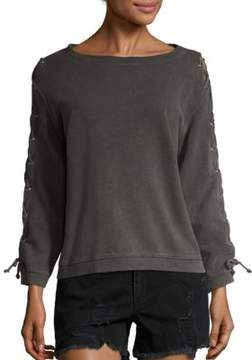 RtA Harper Lace-Up Sweatshirt