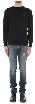La Martina Men's Black Acrylic Sweater.