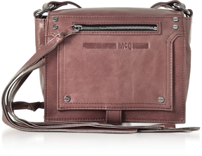 McQ Alexander McQueen Dirty Pink Waxed Leather Mini Crossbody Bag