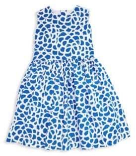 Oscar de la Renta Little Girl's & Girl's Camellia-Print Party Dress