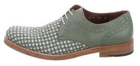 Salvatore Ferragamo Woven Leather Derby Shoes
