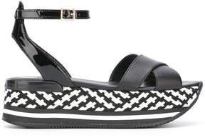 Hogan checkered sandals