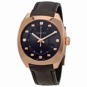 Gucci GG2570 Black Dial Men's Swiss Quartz Watch YA142309