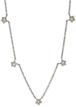 Cathy Waterman Women's White Diamond & Platinum Floral Necklace