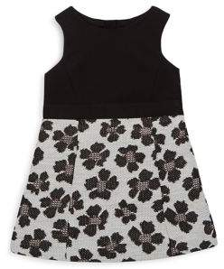 Milly Minis Toddler's, Little Girl's and Girl's Metallic Floral Dress