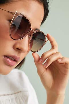 Anthropologie Cat-Eye Cutout Sunglasses