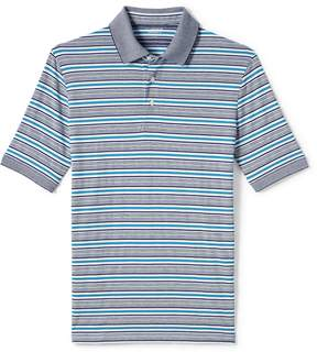 Lands' End Lands'end Men's Tall Short Sleeve Striped Supima Polo Shirt